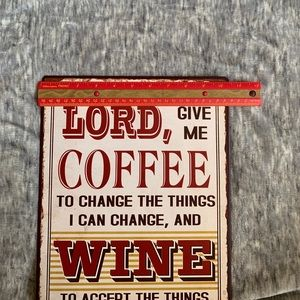 Wall Art - Rustic Quote Sign Metal Lord Coffee Wine Large